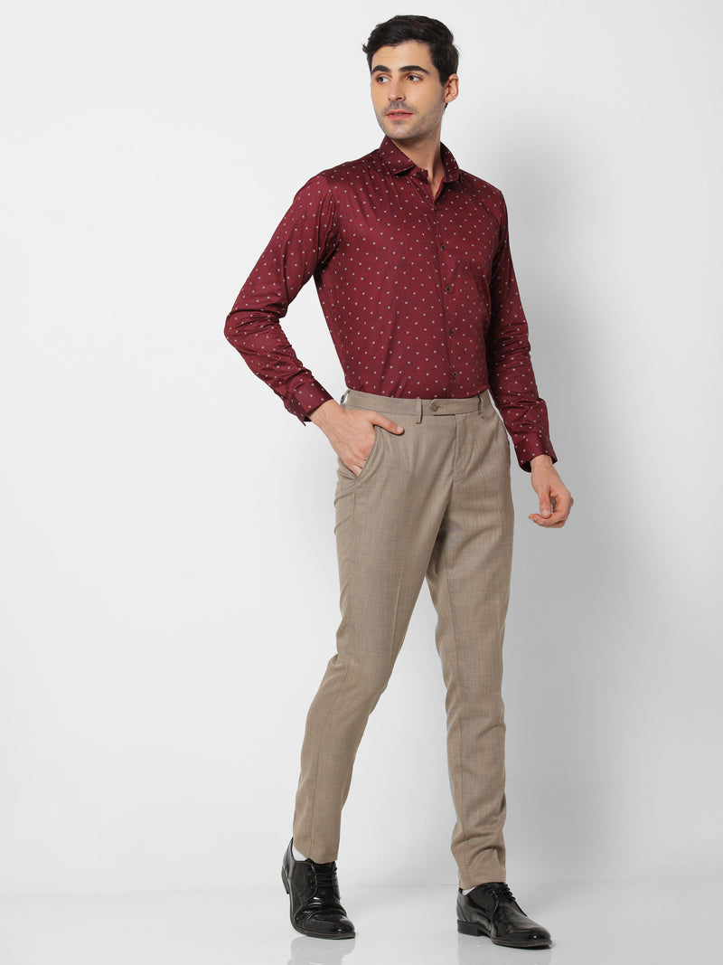 Red Plain Party Wear Shirt