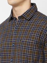 Green Checked Casual Shirt