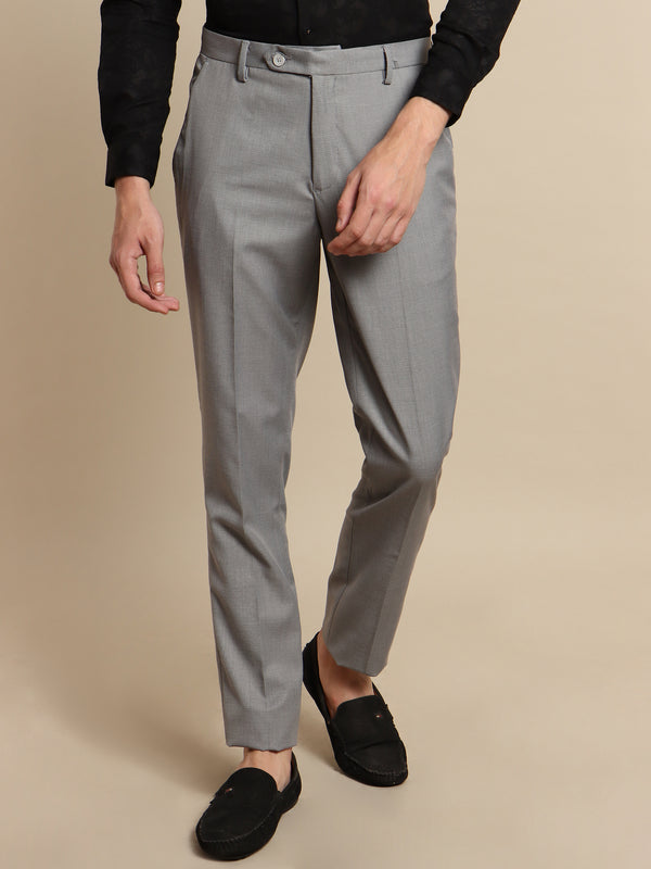 Light Grey Plain Trouser