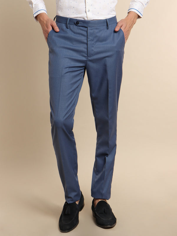 Blue Plain Trouser