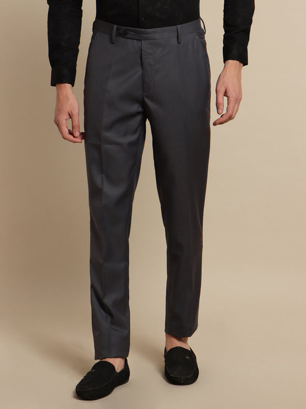 Grey Plain Trouser