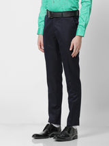 Navy Plain Slim Fit Trouser
