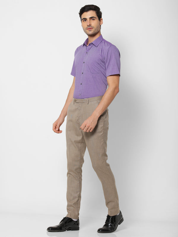 Purple Plain Formal Shirt