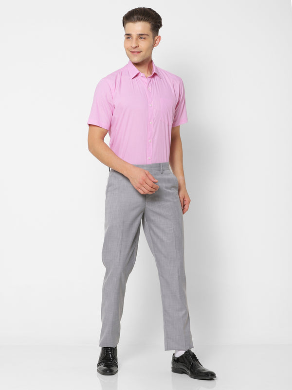 Pink Plain Formal Shirt