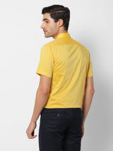 Yellow Plain Formal Shirt