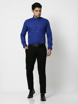 Blue Plain Formal Shirt
