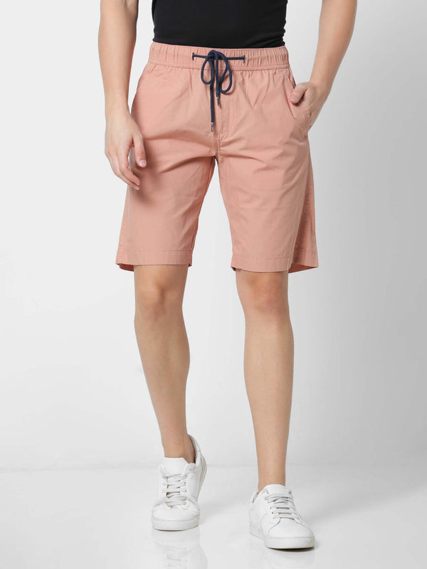 Orange  Plain  Shorts