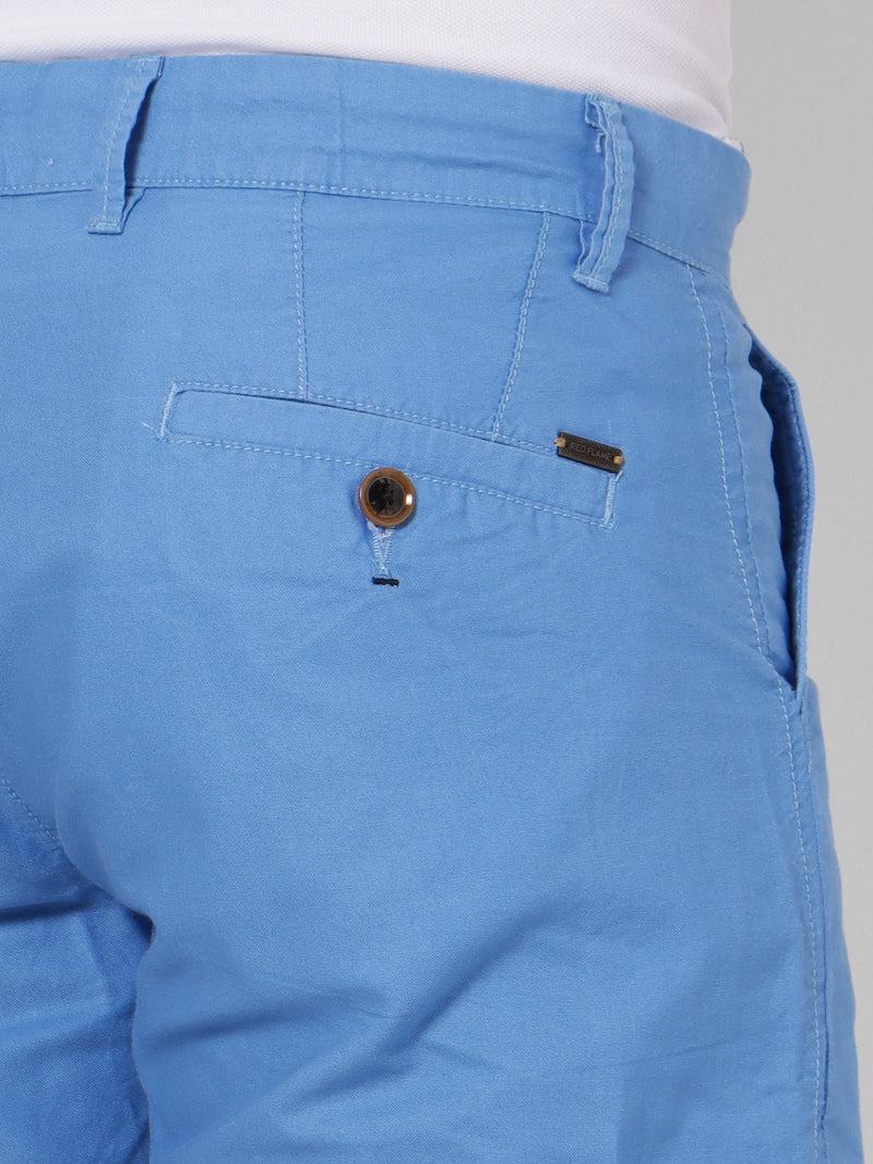 Blue Plain Shorts