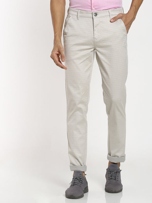 Sand Printed Stretch Trouser