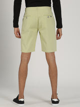 Green Plain Casual Short