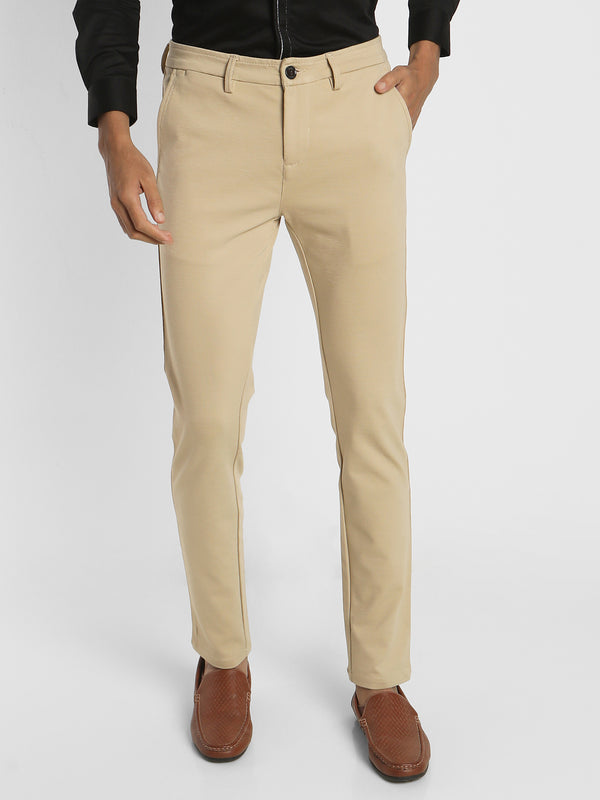 Cream Plain Trouser
