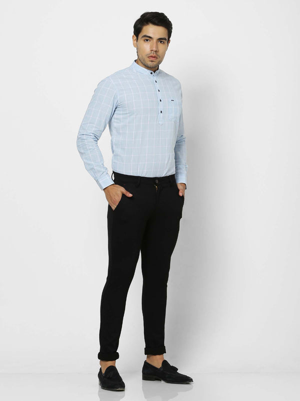 Black  Plain 4-Way Stretch Ultra Slim Fit Trouser