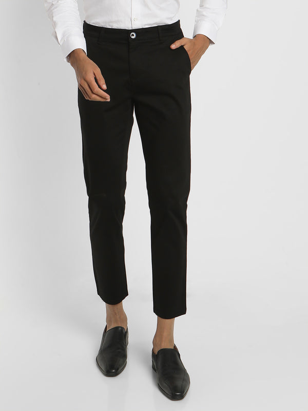 Black Plain Stretch Trouser