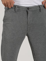 Grey Striped Ultra Slim Fit Trouser