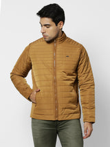 Khaki Plain Quilted Jacket