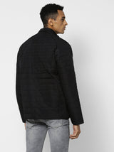 Black Plain Quilted Jacket