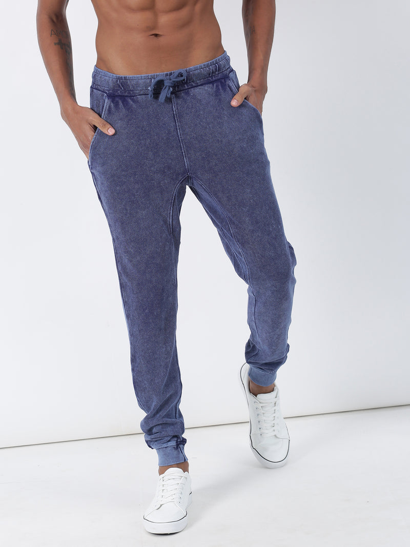 Indigo Light Plain Casual Jogger