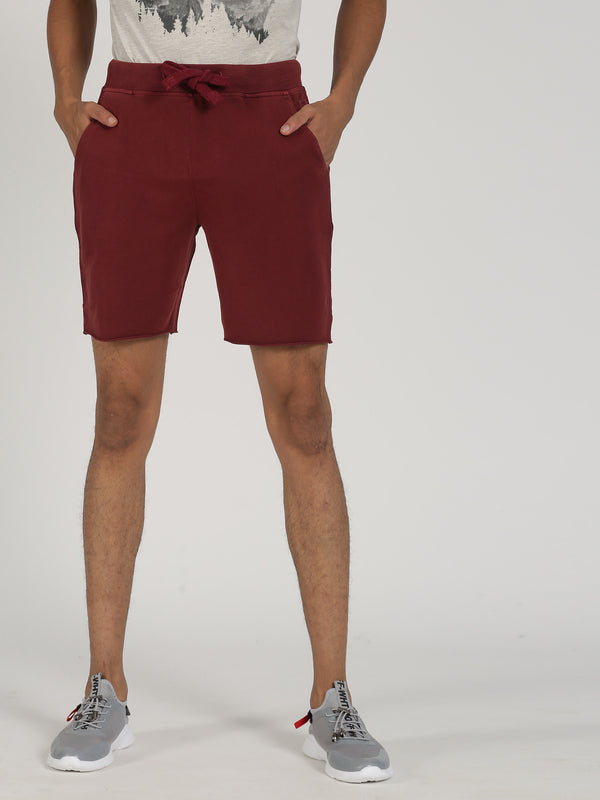Rust Plain Casual Short