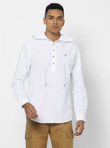 White Plain Casual Kurta