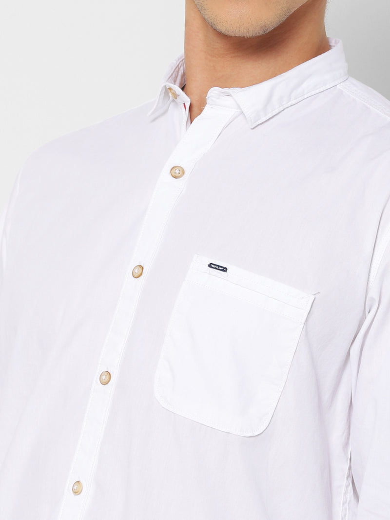 White Plain Casual Shirt