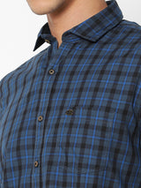 Grey Checked Casual Shirt