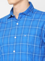 Blue Checked Casual Shirt