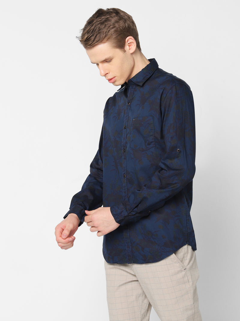 Multi Denim Printed Casual Shirt
