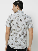 Multi Linen Printed Casual Shirt