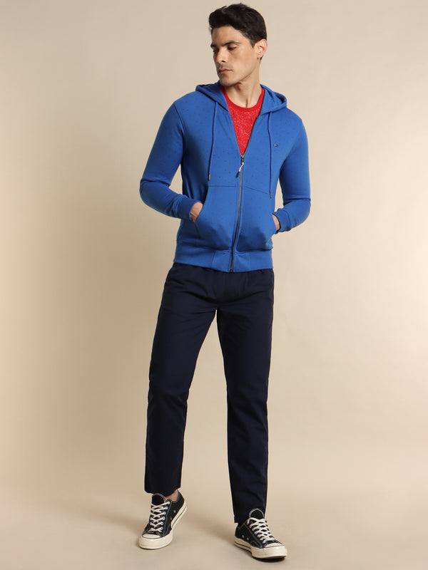 Royal Blue Plain Hooded Sweatshirt