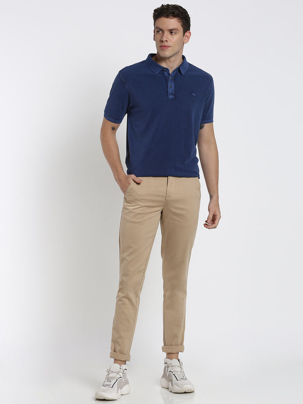 Dark Blue Plain Polo T-Shirt