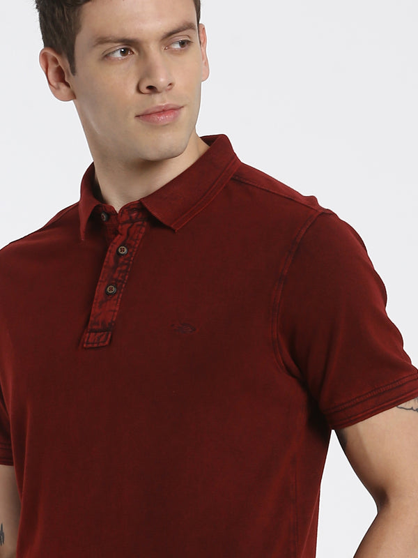 Maroon Plain Polo T-Shirt