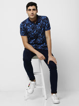 Multi Printed Stretch Casual T-Shirt