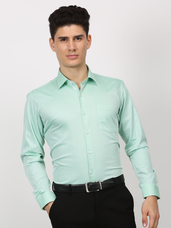 Green Plain Long Sleeve Formal Shirt