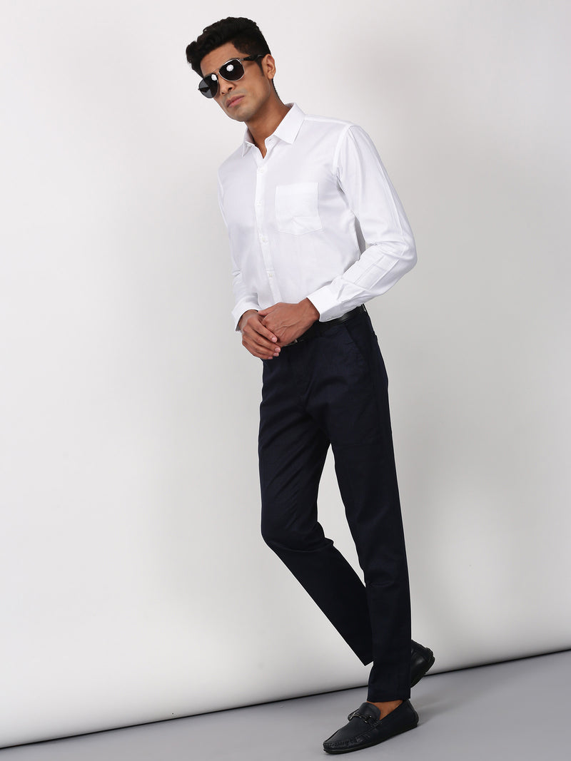 White Plain Long Sleeve Formal Shirt