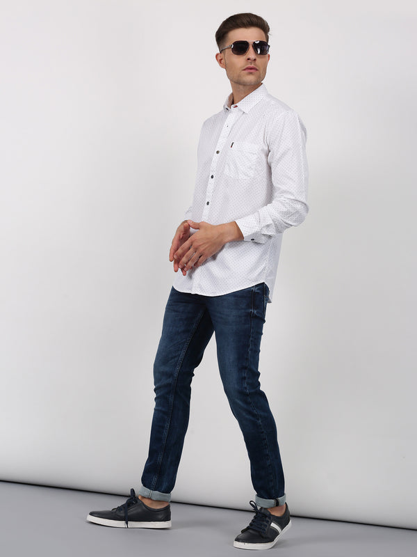White Plain Short Sleeve Formal Shirt