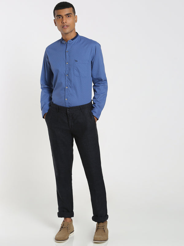 Navy Plain Linens Trouser