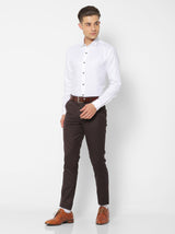 White Linen Plain Party Wear Shirt