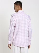 Pink Checked Formal Shirt