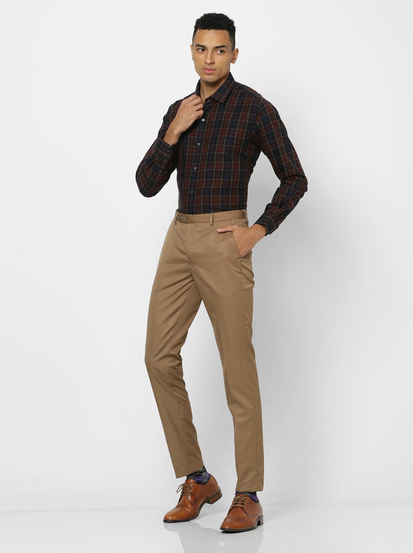 Multi Checked Business Casual Shirt