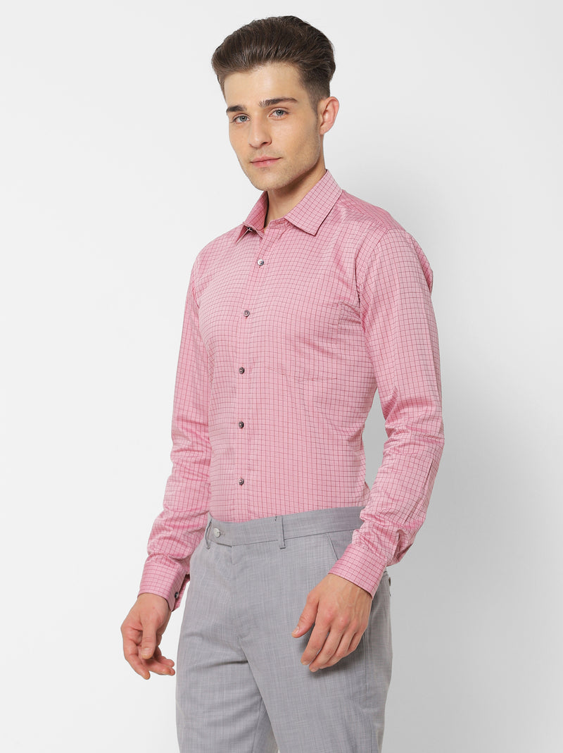 Red Checked Formal Shirt