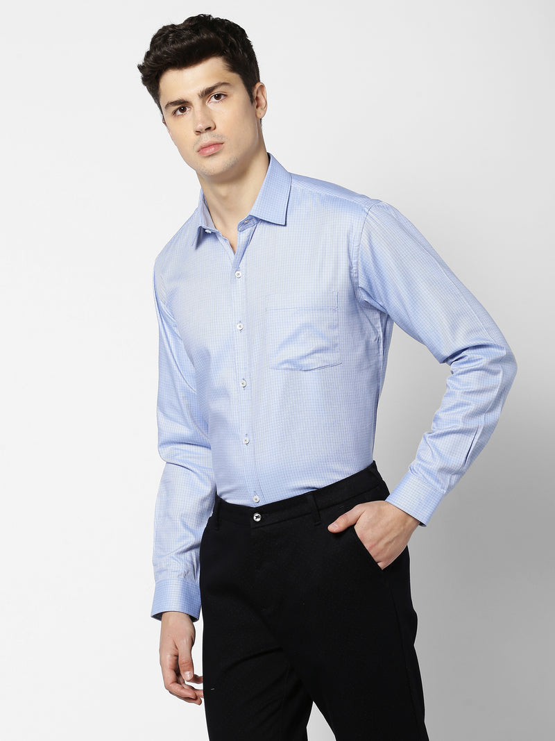 Blue Checked Formal Shirt