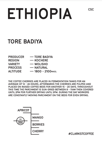Information about tasting notes and origin of Tore Badiya Filter coffee