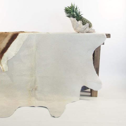 Premium Natural Cowhide - White