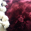 Long Wool Sheepskin Burgundy - Sourceress The Store - 2