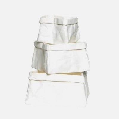 White Paper Bag Boxes - Set 3