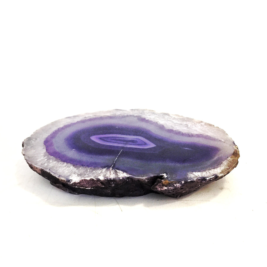 Polished Agate Slice Purple A