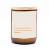 "Australian Made Hand Poured Soy Candle - ""Heart of Gold"" - Almond & Coconut Milk"