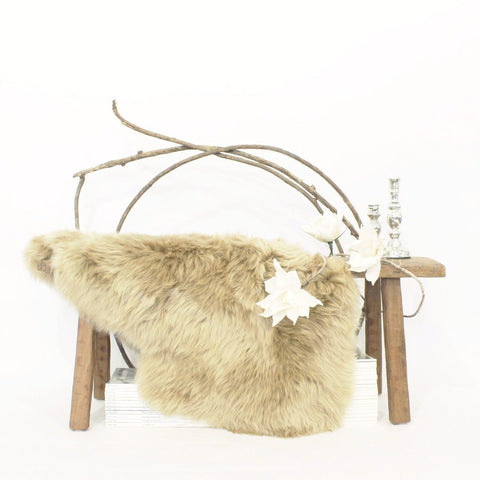 Long Wool Sheepskin - Amber