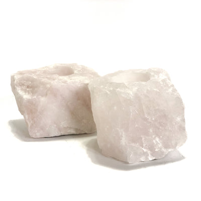 Rose Quartz Tealight Holders ***HIRE ONLY***