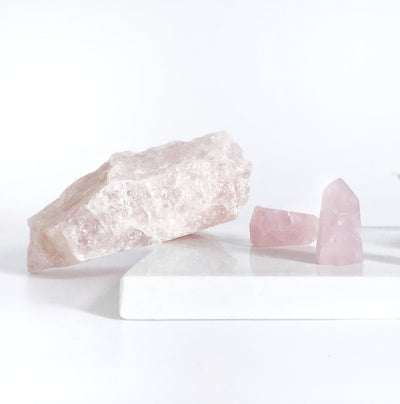 Rose Quartz Rough Cut Large
